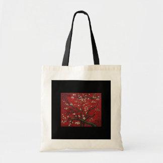 Bag-Classic Art-Van Gogh-Almond Tree in Red Tote Bag