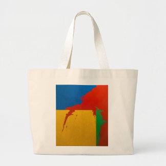 """Bag: """"Color Spill"""" Jumbo Tote Bag"""