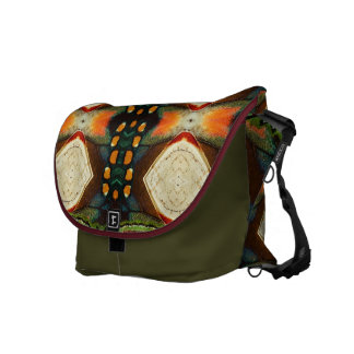Bag design about butterfly textures messenger bag