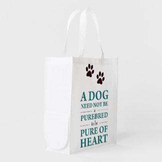 """Bag """"dog need not BE purebred… """" Market Totes"""