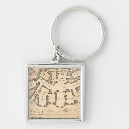Bag End Silver-Colored Square Keychain