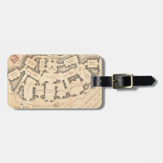 Bag End Vintage Map Tag For Luggage