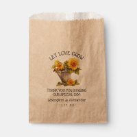 Bag For Sunflower Seeds Wedding Guest Favor |
