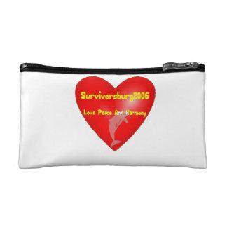 bag heart cosmetic bags
