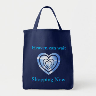 BAG/ Heaven can wait. Shopping Now Tote Bag