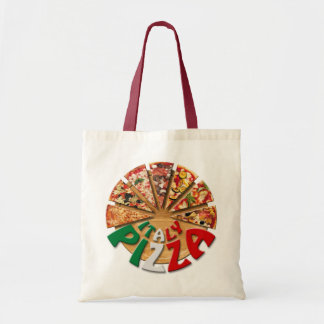 Bag Italy Pizza on the cutting board