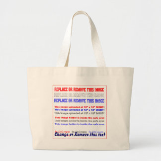 "Bag Jumbo Dim: 20""w x14.5""h x4.5""d. light"