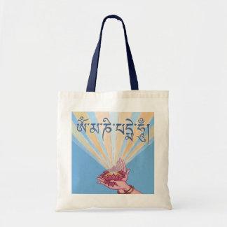 BAG Lotus with mantra Om Mani Padme Hum