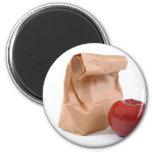 Bag lunch magnet