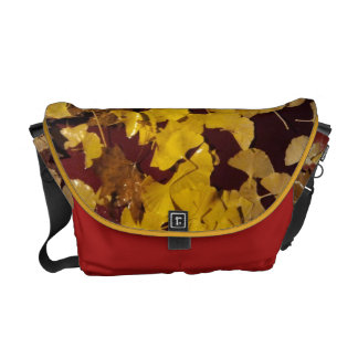 Bag - Messenger Fall picture of yellow leaves Messenger Bags