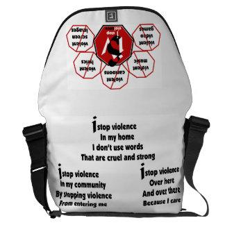 Bag-Messenger-I Stop Violence Poem© F&B Courier Bag
