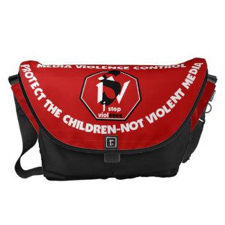 Bag Messenger-Media Violence Control - ISVMI© Messenger Bags