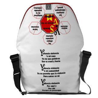 Bag-Messenger - No Media Violence Courier Bag