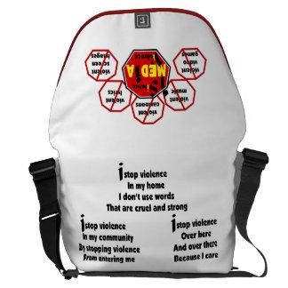 Bag-Messenger - No Media Violence Messenger Bag