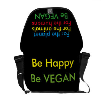 Bag Messenger vegan Be Happy