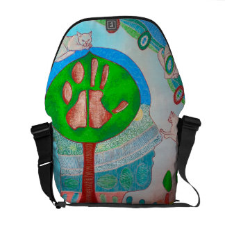 Bag messenger vegan cat tree