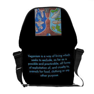 Bag Messenger vegan fish free