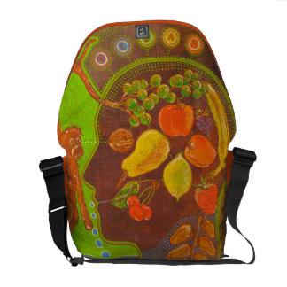 Bag Messenger Vegan fruits