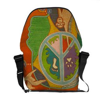 bag messenger vegan peace
