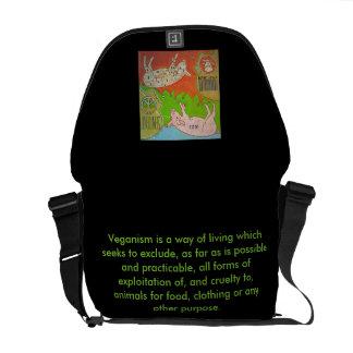 Bag messenger vegan pig free