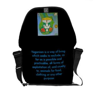 Bag messenger vegan yoga fruits