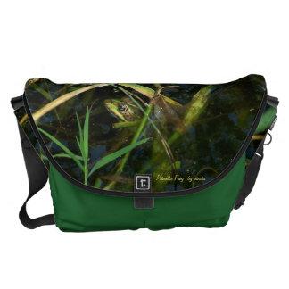 Bag - Messenger with mimetic green frog Messenger Bags