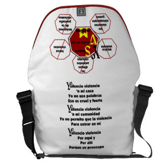 Bag-Messenger -Yo Silencio Violencia-FrontBackPoem Messenger Bag