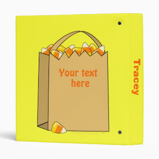 Bag of Candy Corn Fun Halloween Template Binder