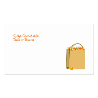 Bag of Candy Corn Fun Halloween Template Double-Sided Standard Business Cards (Pack Of 100)