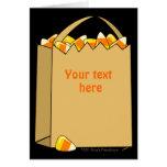 Bag of Candy Corn Fun Halloween Template Greeting Card