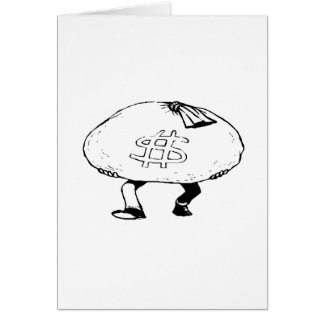 Bag of Cash Stationery Note Card