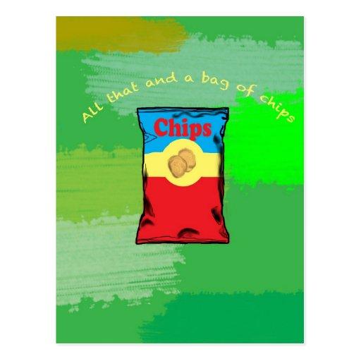 Bag of Chips Postcard