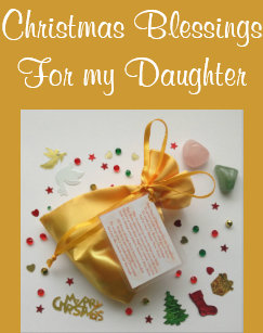 bag of christmas blessings for daughter xmas card