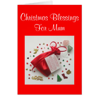Bag of Christmas Blessings for Mum Card with Verse