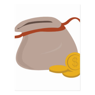 Bag Of Coins Postcard