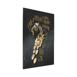 Bag of Gold Original Piece Sculpted in Bronze Metal Print