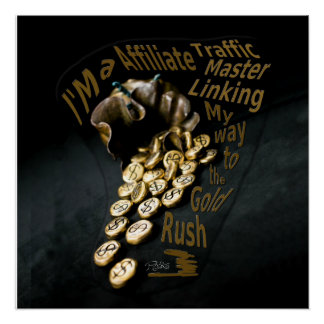 Bag of Gold Original Piece Sculpted in Bronze Poster