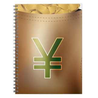 Bag of Money Icon Spiral Note Book