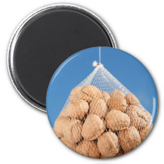 Bag of nuts 2 inch round magnet