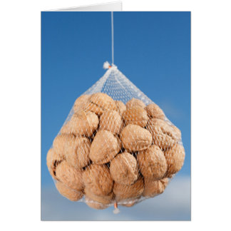Bag of nuts card