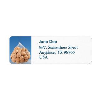 Bag of nuts label