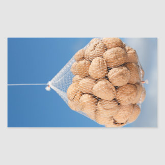 Bag of nuts rectangular sticker