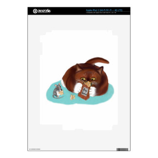 Bag of Popcorn for Mouse and Kitten iPad 3 Skin
