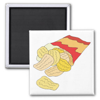 bag of potato chips refrigerator magnet