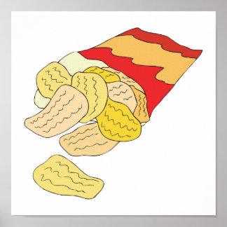 bag of potato chips poster