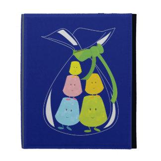 Bag of smiling gumdrops iPad folio covers