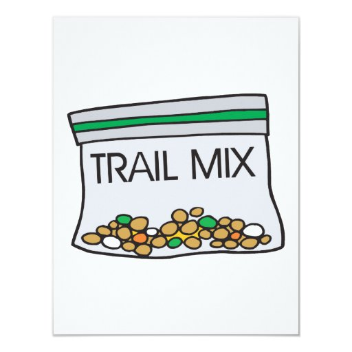bag of trail mix announcement