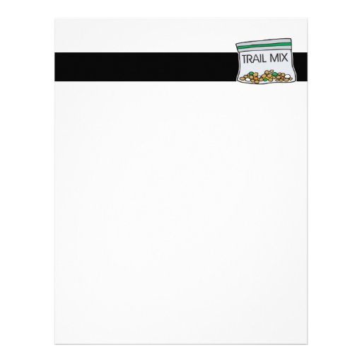 bag of trail mix letterhead