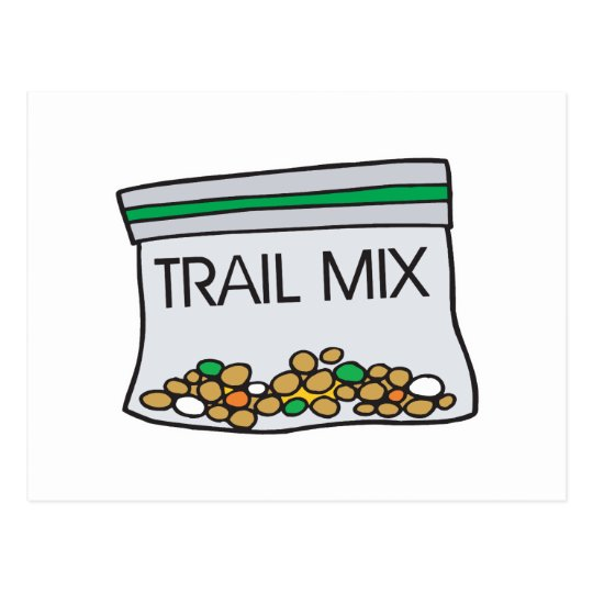 bag of trail mix postcard
