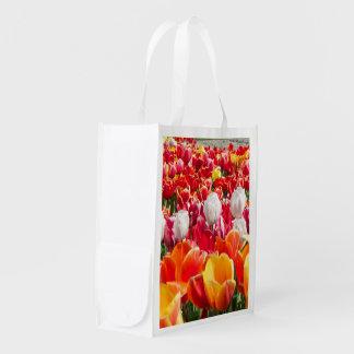 Bag of tulips grocery bag